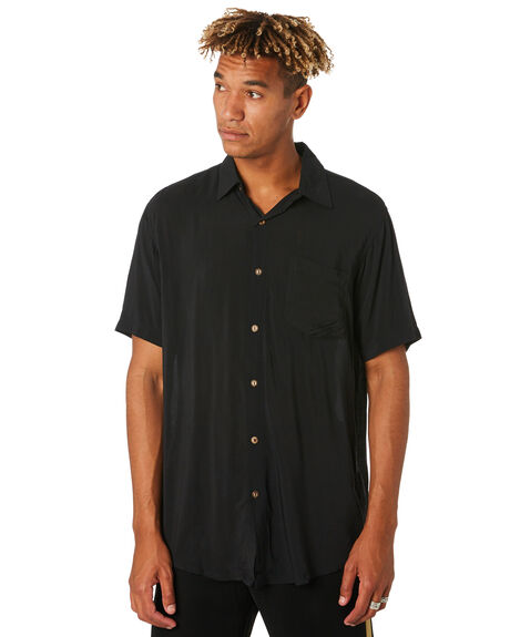 BLACK MENS CLOTHING THE PEOPLE VS SHIRTS - STEVIESSBLK