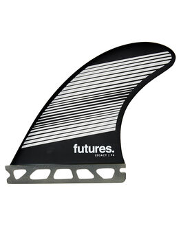 GREY BLACK BOARDSPORTS SURF FUTURE FINS FINS - 1165-160-50GRYBK