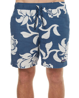 EXOTIC FLORAL BLUE MENS CLOTHING PATAGONIA SHORTS - 58055EXGB