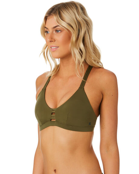 OLIVE OUTLET WOMENS HURLEY BIKINI TOPS - 941342395