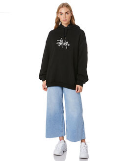 BLACK WOMENS CLOTHING STUSSY JUMPERS - ST106309BLK