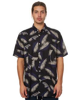 BLACK FLORAL MENS CLOTHING BARNEY COOLS SHIRTS - 306-MC3BFLR