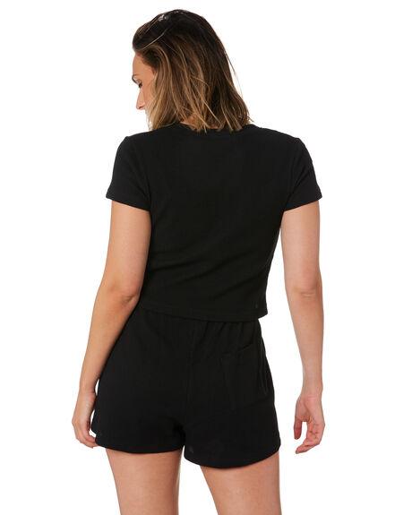 BLACK WOMENS CLOTHING STUSSY TEES - ST102100BLK
