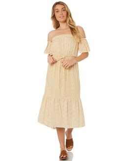 YELLOW FLORAL OUTLET WOMENS RUE STIIC DRESSES - WS18-22-YF-PYFLO