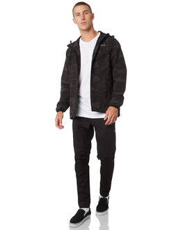 BLACK CAMO MENS CLOTHING RVCA JACKETS - R183438BKCAM