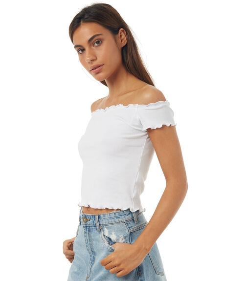 WHITE WOMENS CLOTHING ALL ABOUT EVE FASHION TOPS - 6403109WHT