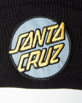 BLACK MENS ACCESSORIES SANTA CRUZ HEADWEAR - SC-MCA9180BLK