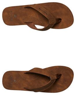 BROWN MENS FOOTWEAR KUSTOM THONGS - 4984202BRN