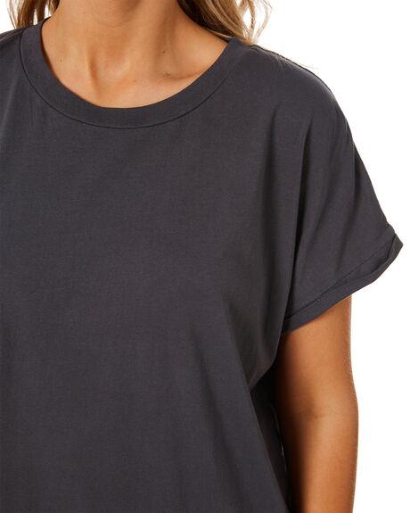 WASHED BLACK WOMENS CLOTHING RIP CURL TEES - GTEKZ98264