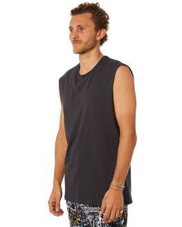 WASHED BLACK MENS CLOTHING BILLABONG SINGLETS - 9582506WSBLK