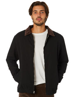 BLACK MENS CLOTHING RHYTHM JACKETS - JAN19M-JK01-BLK