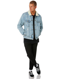 BLUE DENIM MENS CLOTHING SILENT THEORY JACKETS - 4090274BDN