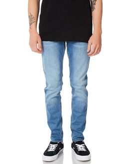SHADED MID BLUE MENS CLOTHING DR DENIM JEANS - 1330125-G54