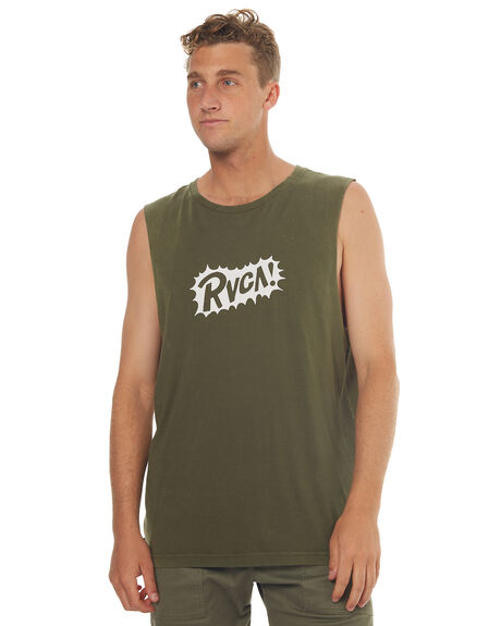 MILITARY OUTLET MENS RVCA SINGLETS - R172004MIL