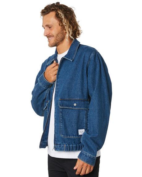 MID WASH DENIM MENS CLOTHING HERSCHEL SUPPLY CO JACKETS - 50072-00607