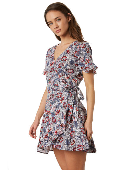 AWAY TROPICAL  WHITE OUTLET WOMENS THE HIDDEN WAY DRESSES - H8202455ATRPL