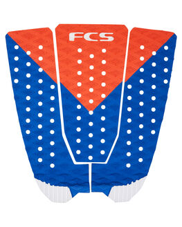 RED WHITE BLUE BOARDSPORTS SURF FCS TAILPADS - FKA02RDWBL