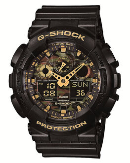 BLACK CAMO MENS ACCESSORIES G SHOCK WATCHES - GA100CF-1A9BKCM
