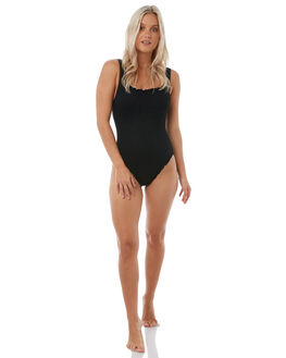 BLACK WOMENS SWIMWEAR SEAFOLLY ONE PIECES - 10745-074BLK