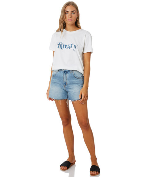 BRIGHT WHITE WOMENS CLOTHING RUSTY TEES - TTL1061BTW