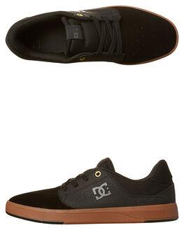 BLACK GUM MENS FOOTWEAR DC SHOES SKATE SHOES - ADYS100319BGM