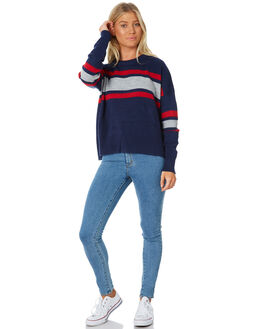 DARK SAPPHIRE WOMENS CLOTHING RUSTY KNITS + CARDIGANS - CKL0339DRS