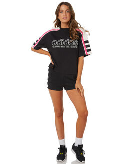 BLACK WOMENS CLOTHING ADIDAS SHORTS - DH4178BLK