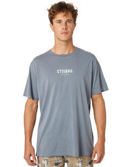 DUSTY BLUE MENS CLOTHING THRILLS TEES - TR8-100EDSBLU