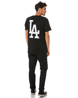 DODGERS BLACK MENS CLOTHING MAJESTIC TEES - MLD7020DBBLK