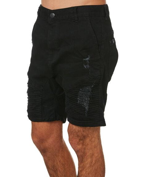 JET BLACK MENS CLOTHING NENA AND PASADENA SHORTS - NPMDS002JBLK