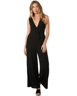BLACK WOMENS CLOTHING MINKPINK PLAYSUITS + OVERALLS - MP1810052BLK