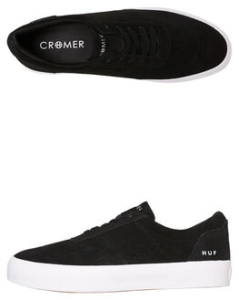 BLACK MENS FOOTWEAR HUF SNEAKERS - VC00079-BLK