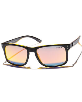 MATT BLACK ORANGE MENS ACCESSORIES LIIVE VISION SUNGLASSES - LI00356MBKO