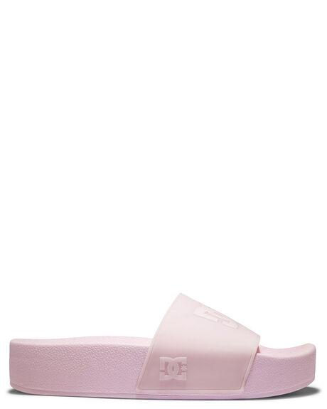 BARELY PINK WOMENS FOOTWEAR DC SHOES SLIDES - ADJL100026-BRL