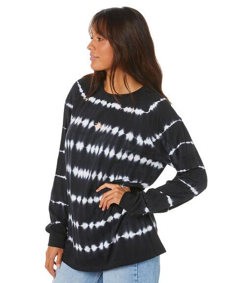 BLACK WOMENS CLOTHING STUSSY TEES - ST105105BLK