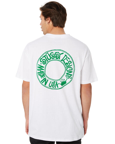 WHITE SAND MENS CLOTHING STUSSY TEES - ST092005WHTSAND