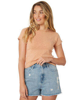 FAWN WOMENS CLOTHING ALL ABOUT EVE TEES - 6423044TAN