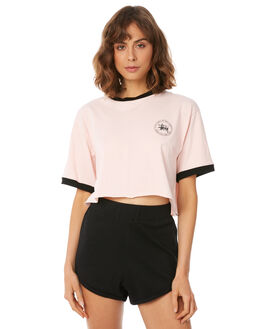 PASTEL PINK WOMENS CLOTHING STUSSY TEES - ST182007PNK