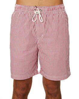 RED WHITE MENS CLOTHING HUFFER SHORTS - MST83S3405REDWH