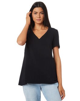 BLACK OUTLET WOMENS BETTY BASICS TEES - BB228S18BLK