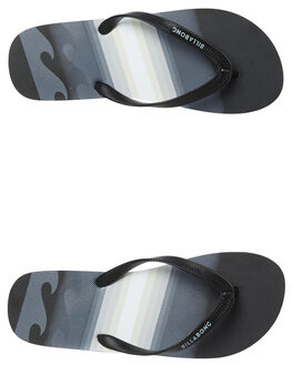 BLACK MENS FOOTWEAR BILLABONG THONGS - 9681940BLK