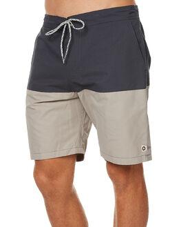NAVY GREY MENS CLOTHING MOLLUSK BOARDSHORTS - MS1386NVG
