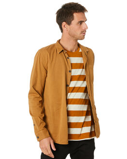 DYED CAMEL MENS CLOTHING NUDIE JEANS CO SHIRTS - 140501C36
