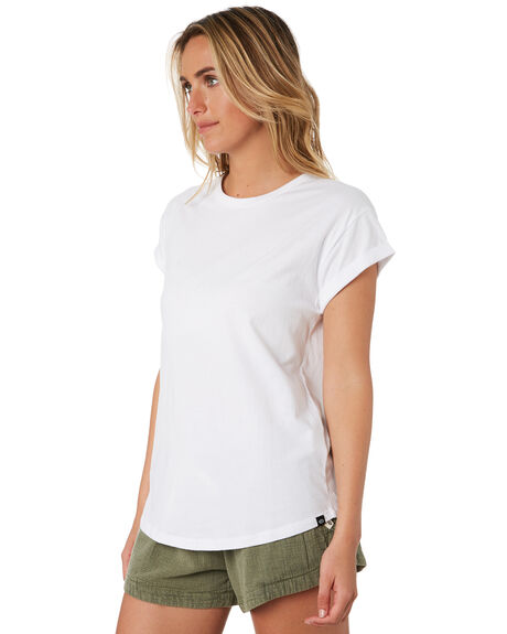 WHITE WOMENS CLOTHING RIP CURL TEES - GTENZ11000