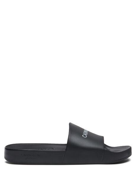 BLACK MENS FOOTWEAR CALVIN KLEIN THONGS - KM00498BEH