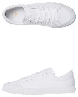WHITE WHITE MENS FOOTWEAR EMERICA SKATE SHOES - 6101000102WHITE