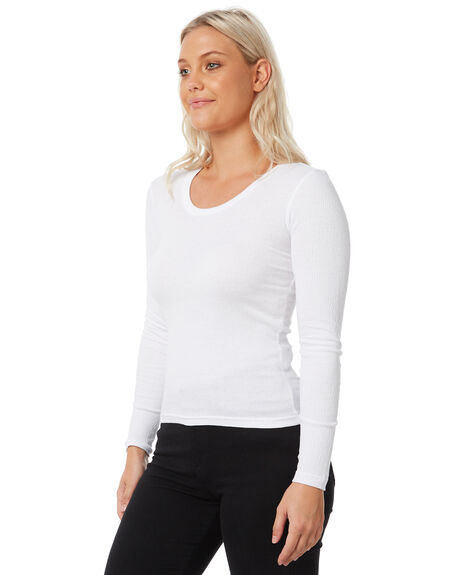 WHITE WOMENS CLOTHING SWELL TEES - S8183101WHITE