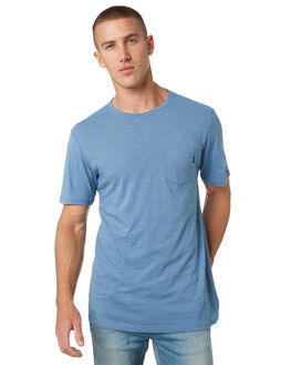 DENIM BLUE MENS CLOTHING RIP CURL TEES - CTEMW24983