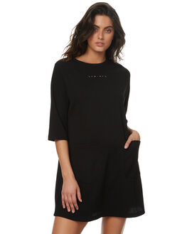 BLACK WOMENS CLOTHING RPM DRESSES - 7PWD02ABLK