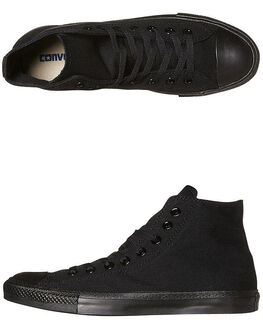 BLACK MONOCHROME WOMENS FOOTWEAR CONVERSE SNEAKERS - SS13310BLKMOW